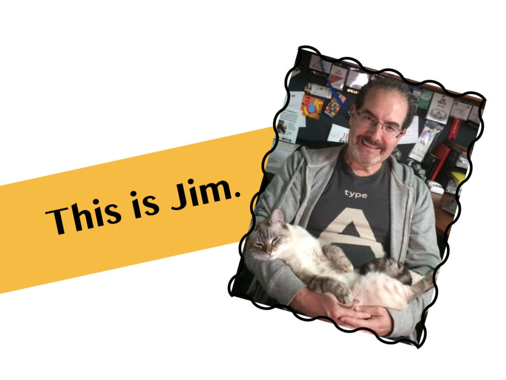Image of Jim with Cat