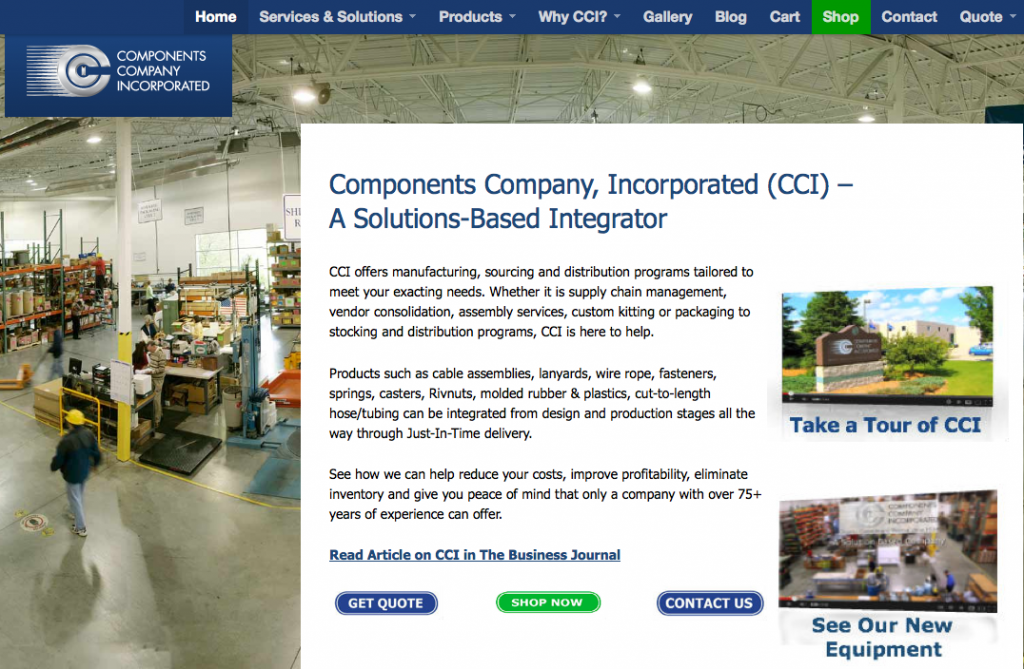 Image of Components Company Inc. Site