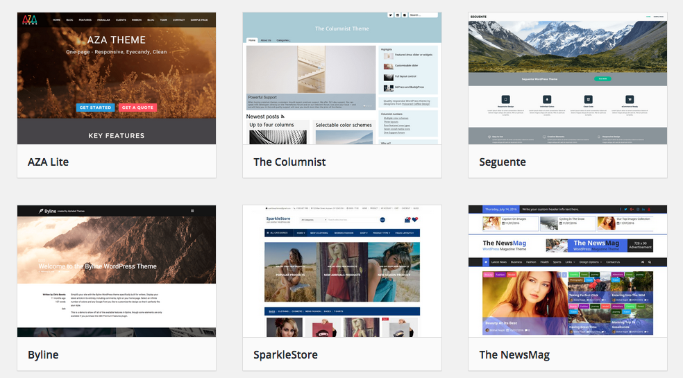 Image of wordpress-theme-examples