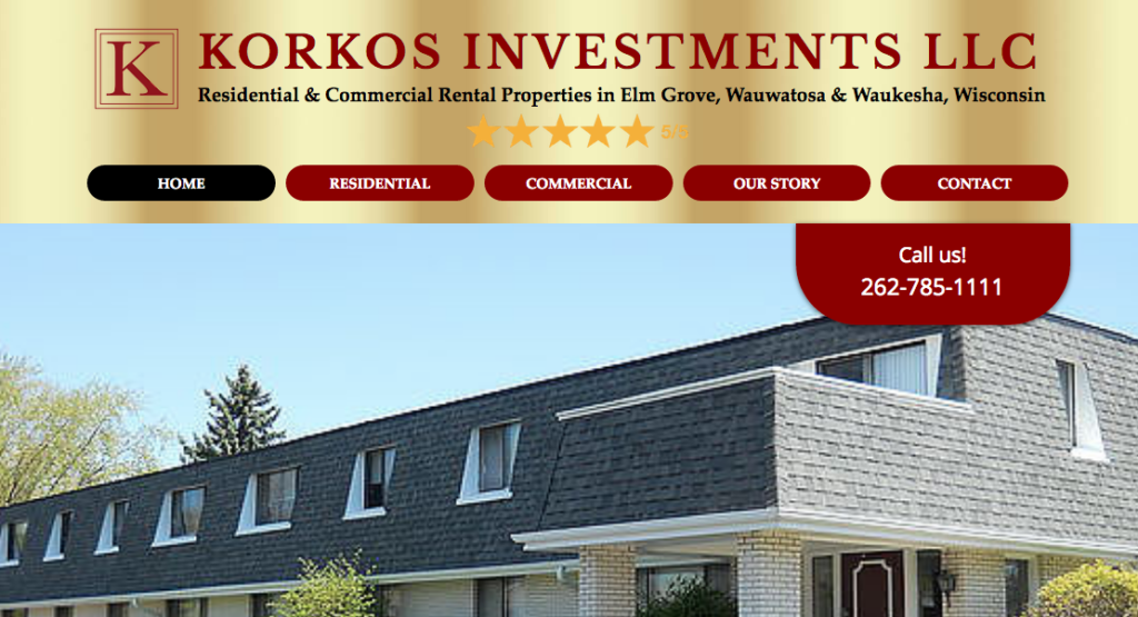 Image of Korkos Investments Wix Desktop