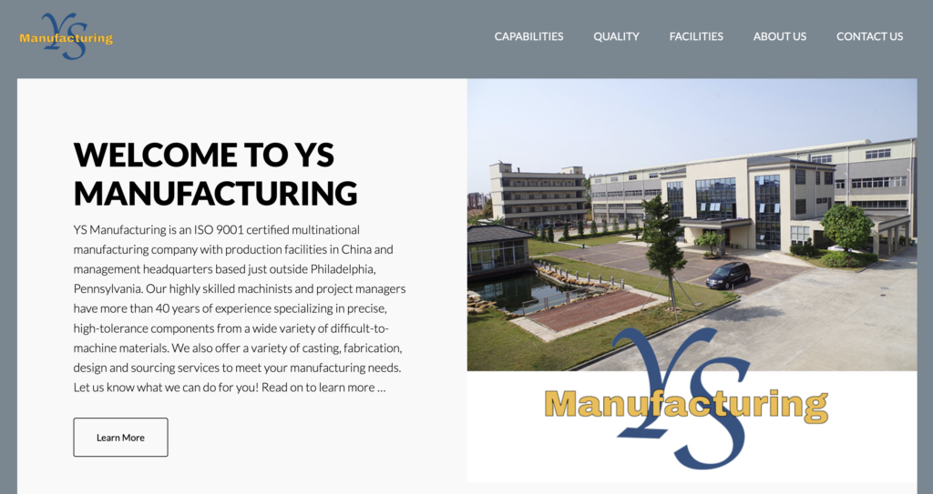 Image of YS Manufacturing Site
